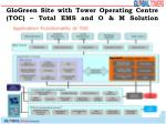 glogreen site with tower operating centre toc total ems and o m solution1