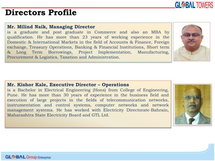Directors Profile