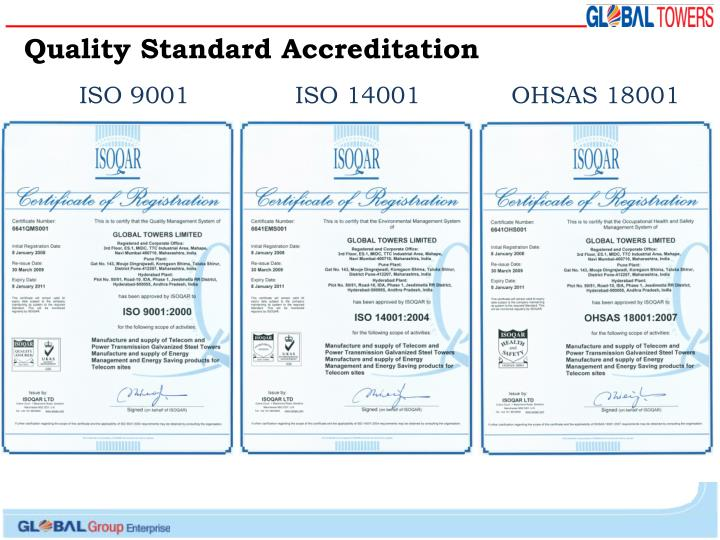Quality Standard Accreditation