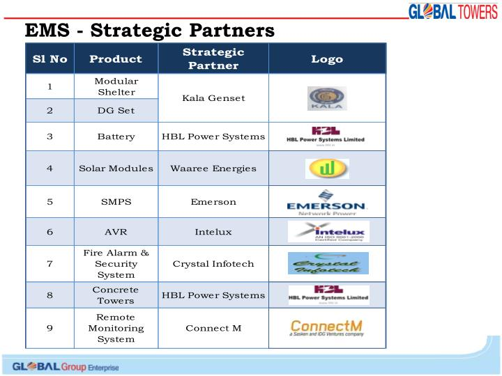 EMS - Strategic Partners