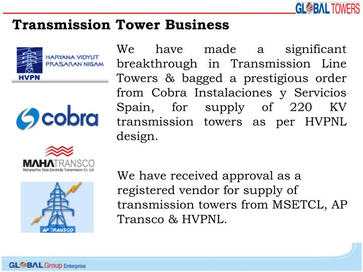 Transmission Tower Business