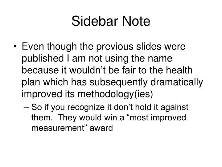 Sidebar Note