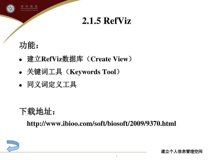 2.1.5 RefViz