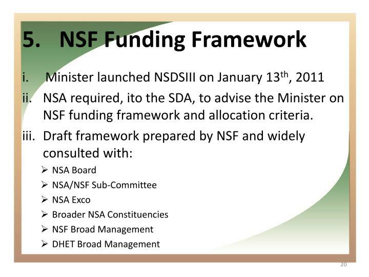 NSF Funding Framework