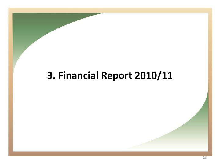 Financial Report 2010/11
