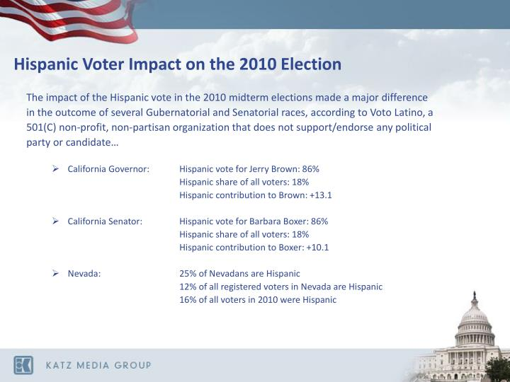 Hispanic Voter Impact on the 2010 Election