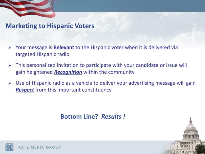 Marketing to Hispanic Voters