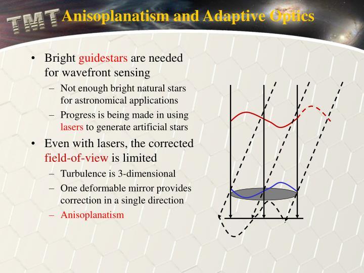 Anisoplanatism and Adaptive Optics