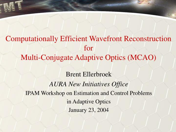 Computationally Efficient Wavefront Reconstruction
