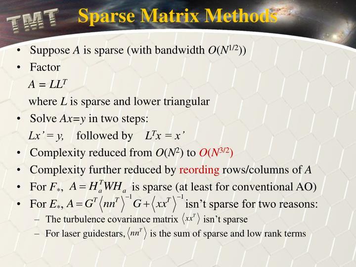Sparse Matrix Methods