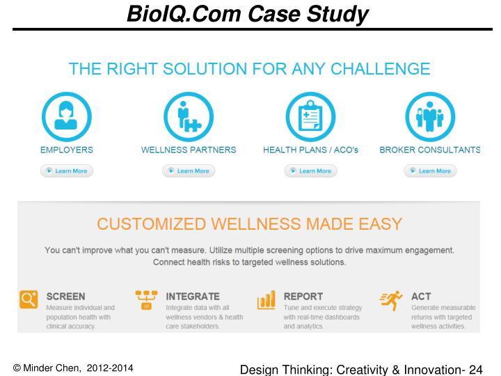 BioIQ.Com Case Study