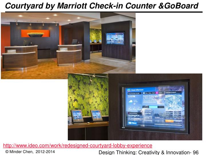 Courtyard by Marriott Check-in Counter &GoBoard