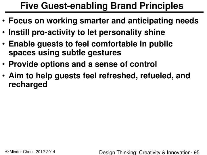 Five Guest-enabling Brand Principles