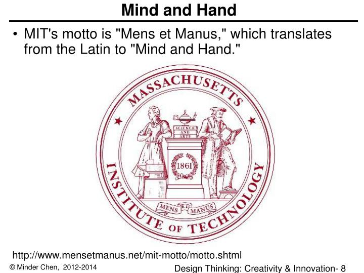 Mind and Hand