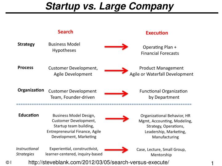 Startup vs. Large Company