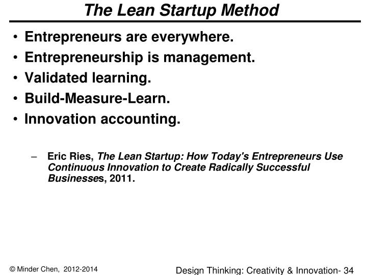 The Lean Startup Method