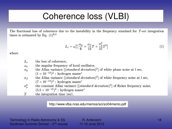 Coherence loss (VLBI)