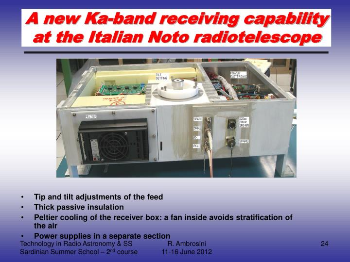 A new Ka-band receiving capability