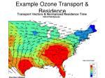 example ozone transport residence