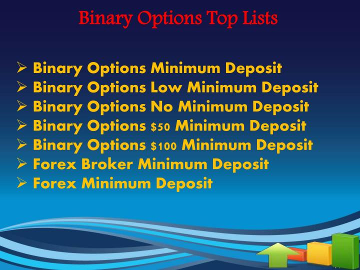 No minimum deposit binary options