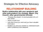 strategies for effective advocacy