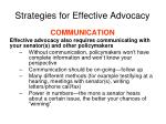 strategies for effective advocacy1