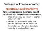 strategies for effective advocacy2