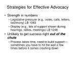 strategies for effective advocacy8