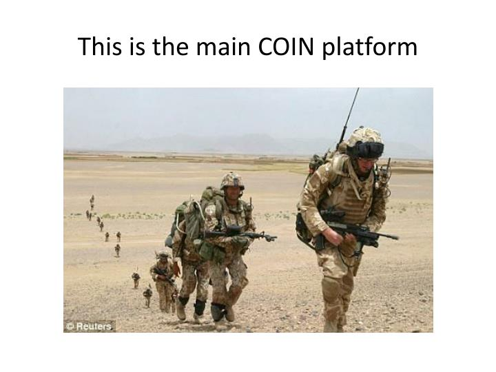This is the main COIN platform