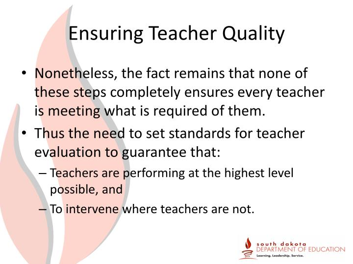Ensuring Teacher Quality