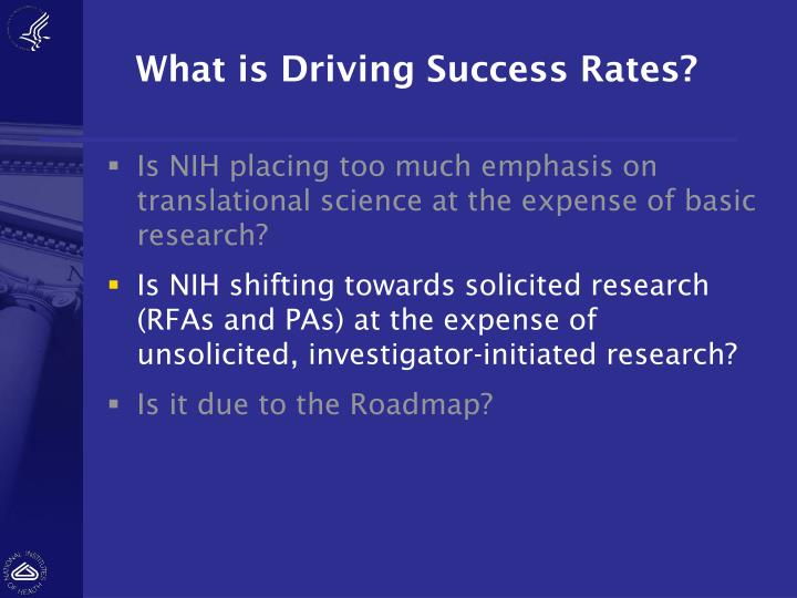What is Driving Success Rates?