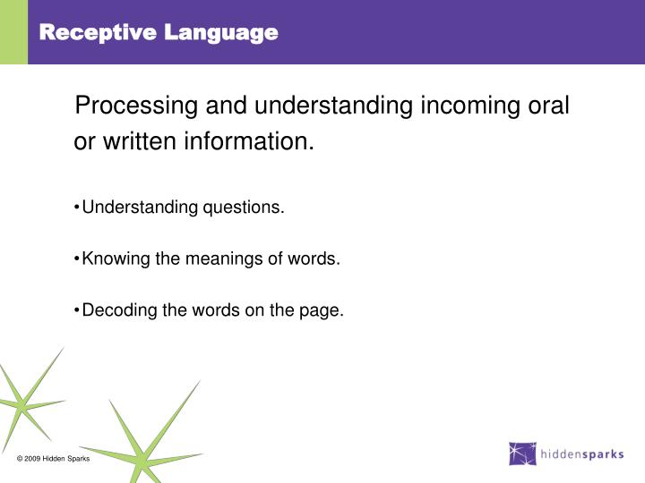 Receptive Language