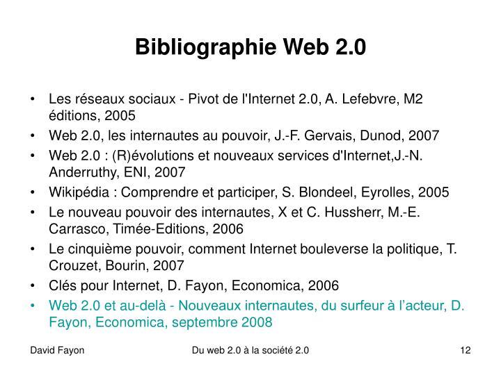 Bibliographie Web 2.0