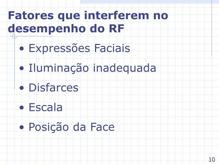 Fatores que interferem no desempenho do RF
