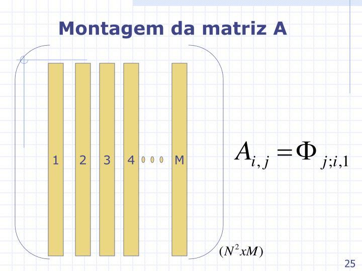 Montagem da matriz A