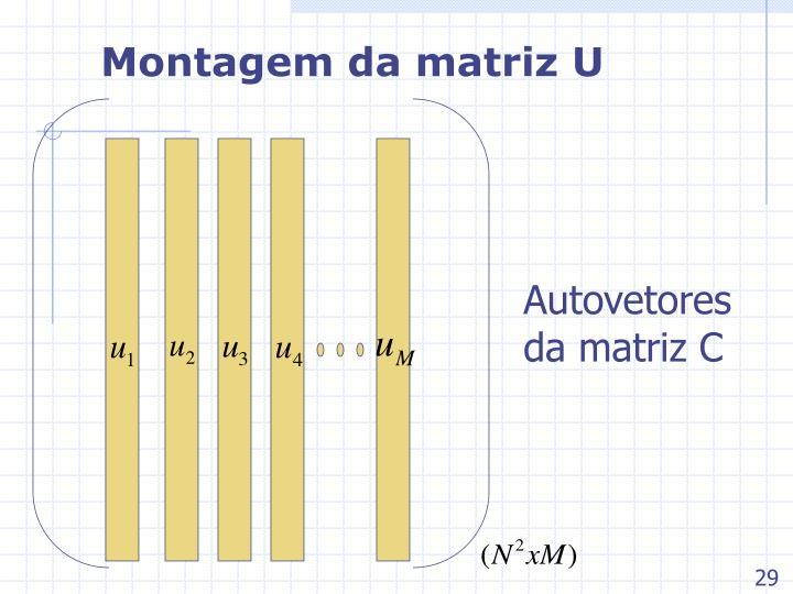 Montagem da matriz U