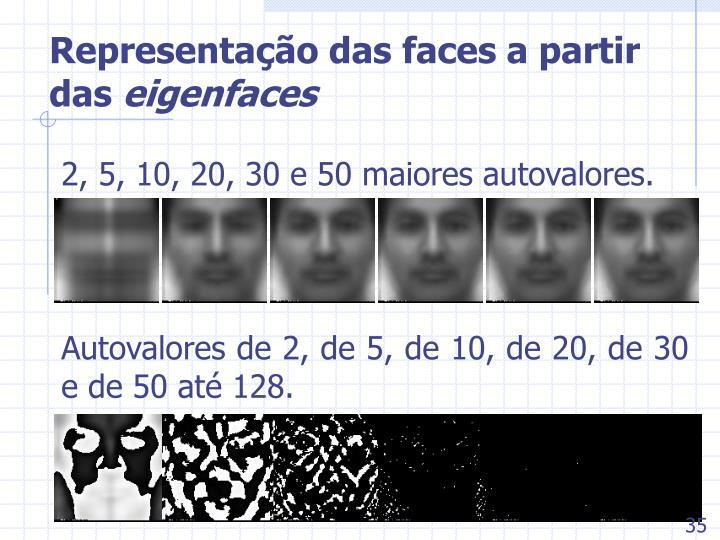 Representação das faces a partir das