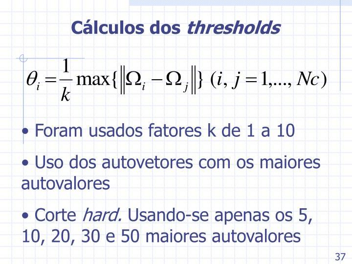 Cálculos dos