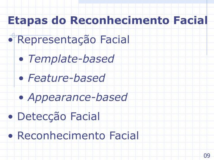Etapas do Reconhecimento Facial