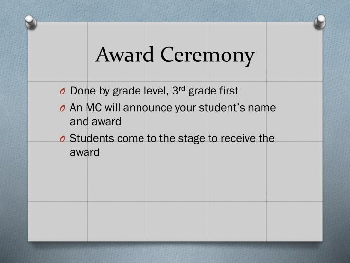 Award Ceremony