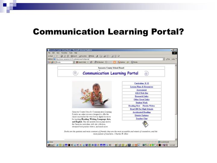 Communication Learning Portal?