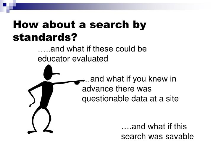 How about a search by standards?