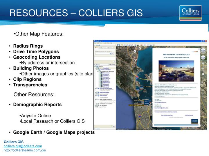 RESOURCES – COLLIERS GIS