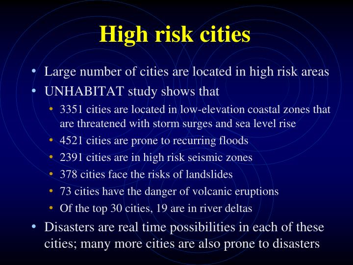 High risk cities