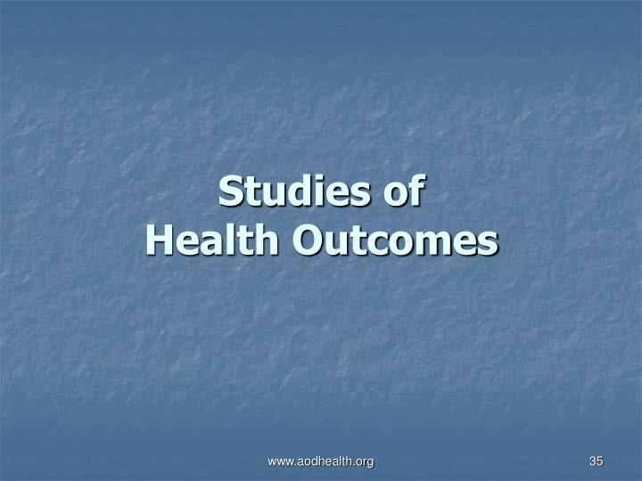 Studies of