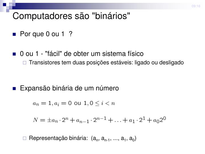 """Computadores são """"binários"""""""