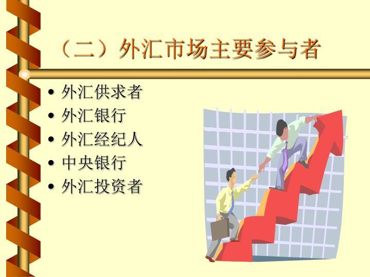 (二)外汇市场主要参与者