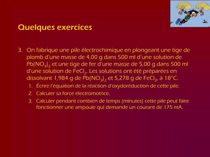 Quelques exercices