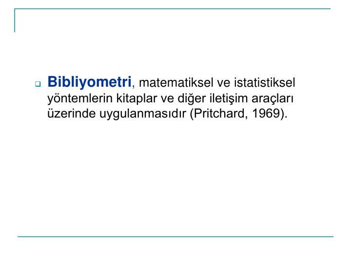 Bibliyometri