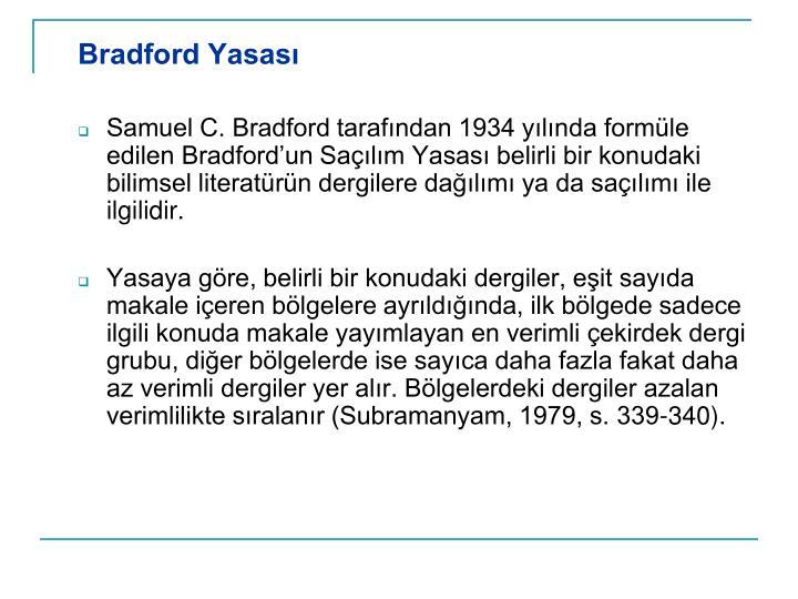 Bradford Yasas